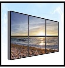 Location mur d-images ecrans led de 3m de diagonale, avec processeur
