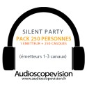 Location Pack Silent Party Disco 250 personnes, émetteur 3 canaux Nice