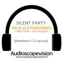 Location Pack Silent Party Disco 450 personnes, émetteur 3 canaux Nice