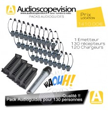 Audioguide Pack 130 pers pour visite guidée Audiophone Nice Cannes Monaco Toulon