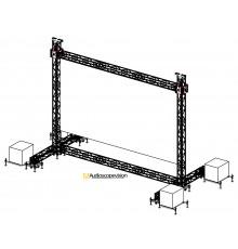 Louer structure pour écran plein jour écran led extérieur grand écran led